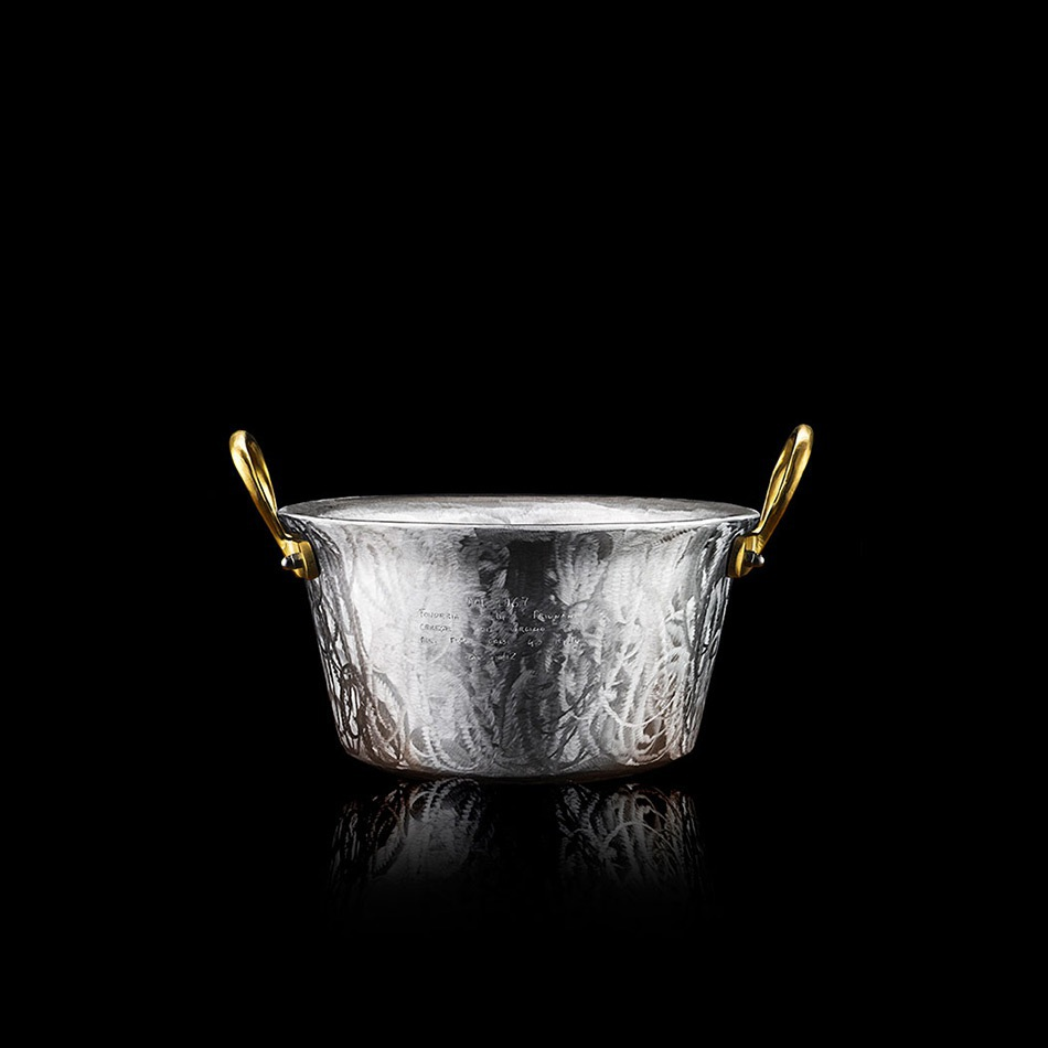 Pot 42 5 cm brass